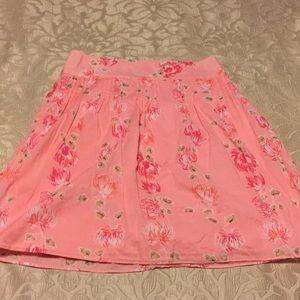LOFT Skirts - Ann Taylor Loft pink floral skirt